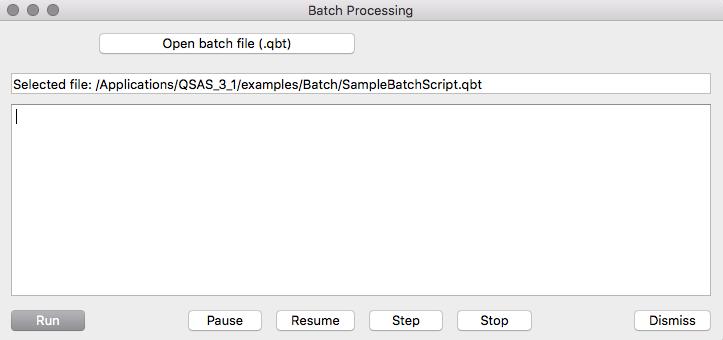 Qsas Batch Processing
